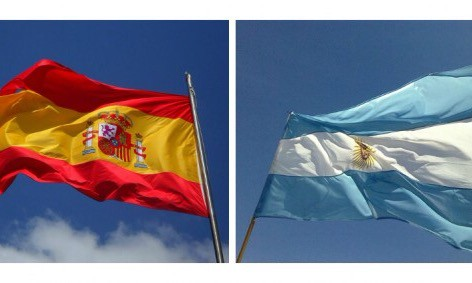 Flags Spain Argentina