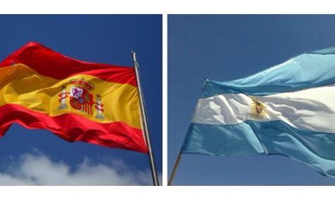 Flag Spain Argentina
