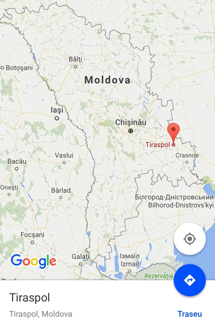 Moldova Polyglots Paradise Language Tsar - Transnistria map