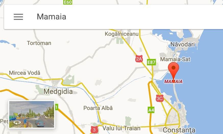 Mamaia map