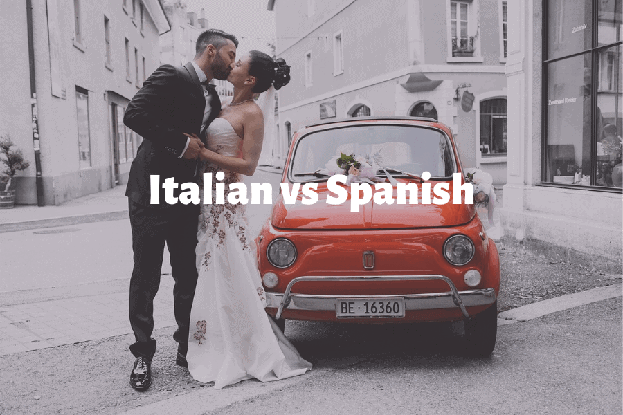 How different or similar are Italian and Spanish?