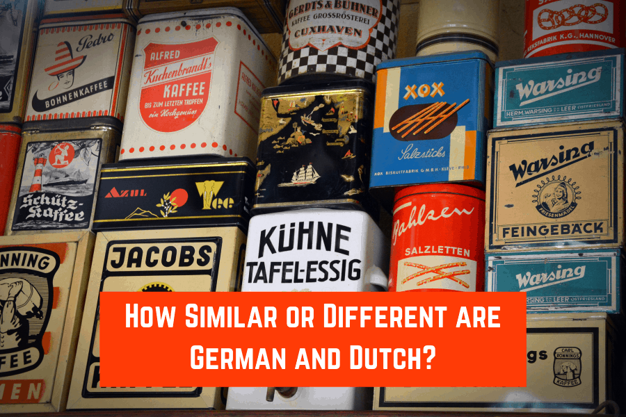 How Similar or Different are German and Dutch?