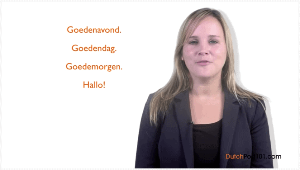DutchPod101 Video Learn Dutch Greetings