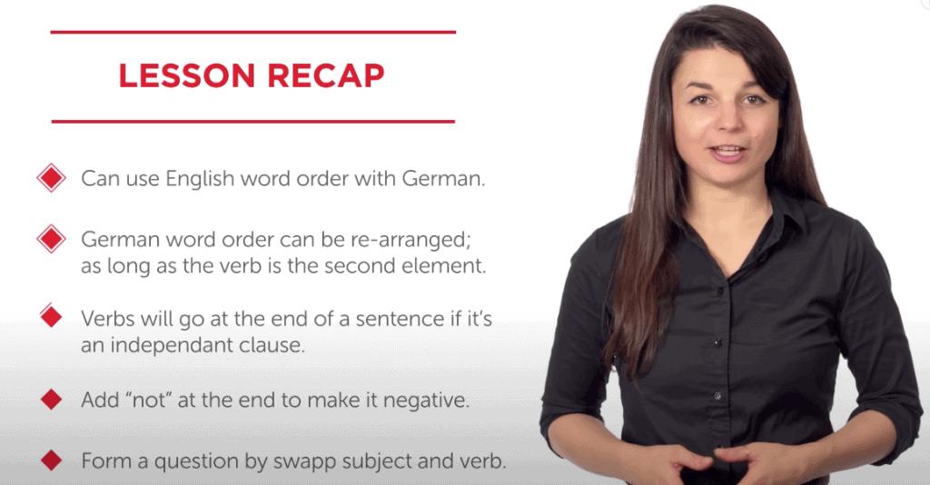 GermanPod101 Video Lesson Sample
