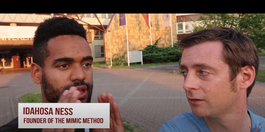 Mimic Method Founder Idahosa Ness with Conor Clyne Tsar Experience