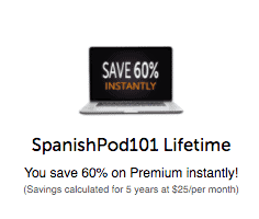 SpanishPod101 60 Percent Off