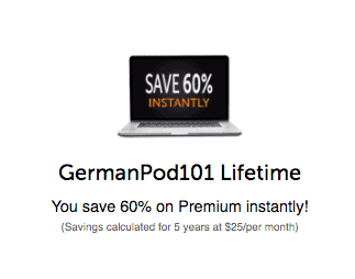 60 percent off GermanPod101 Screenshot