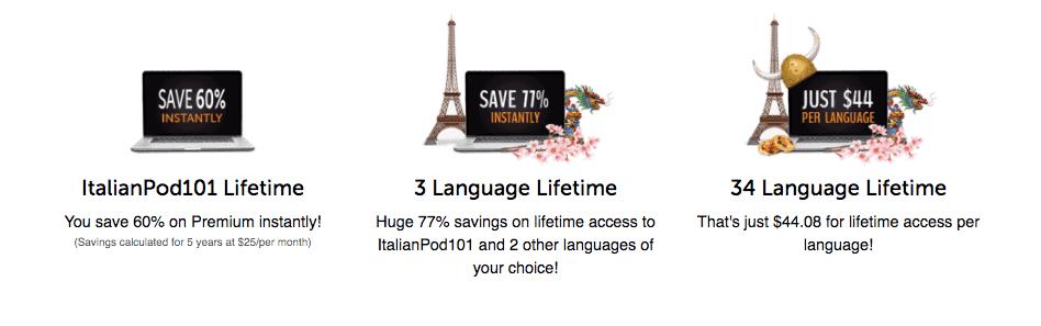ItalianPod101 77% Off Promo