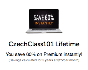CzechClass101 60 coupon screenshot