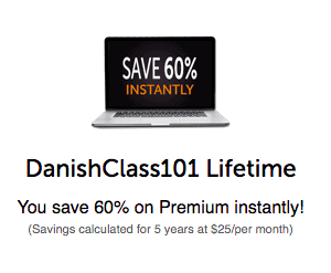 DanishClass101 Coupon Code 60 Screenshot