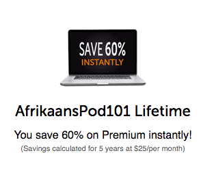 AfrikaansPod101 Coupon 60