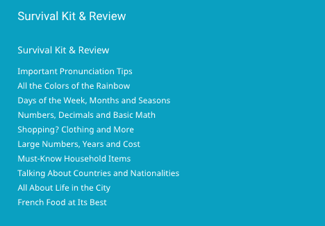 Rocket French Review - Survival Kit Screenshot