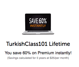 TurkishClass101 Coupon 60