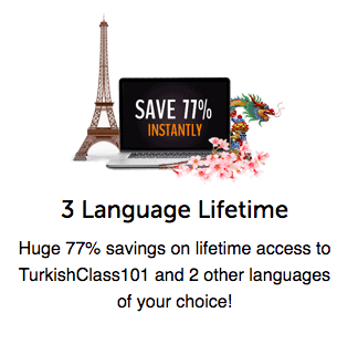 TurkishClass101 Coupon 77