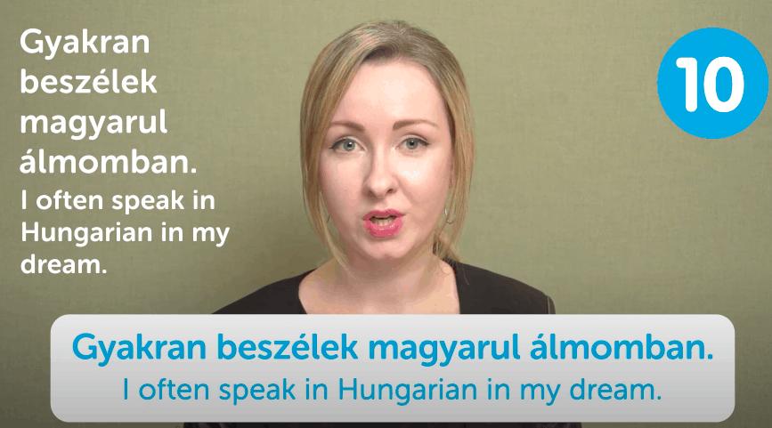 HungarianPod101 Video Lesson Screenshot