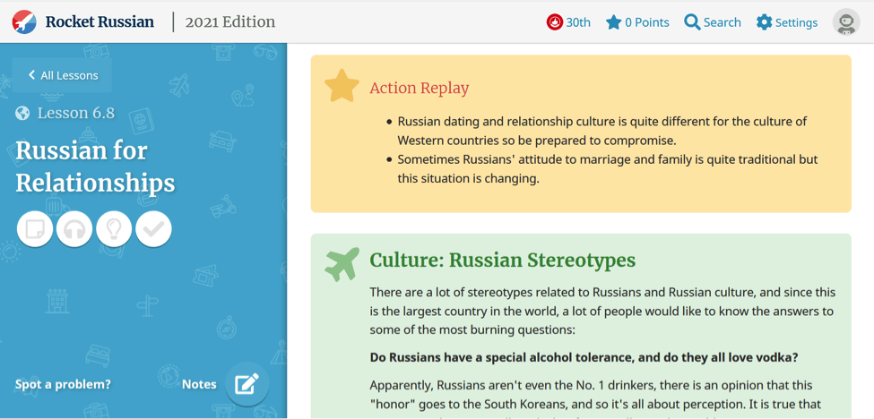 Rocket Russian - Cultural Facts