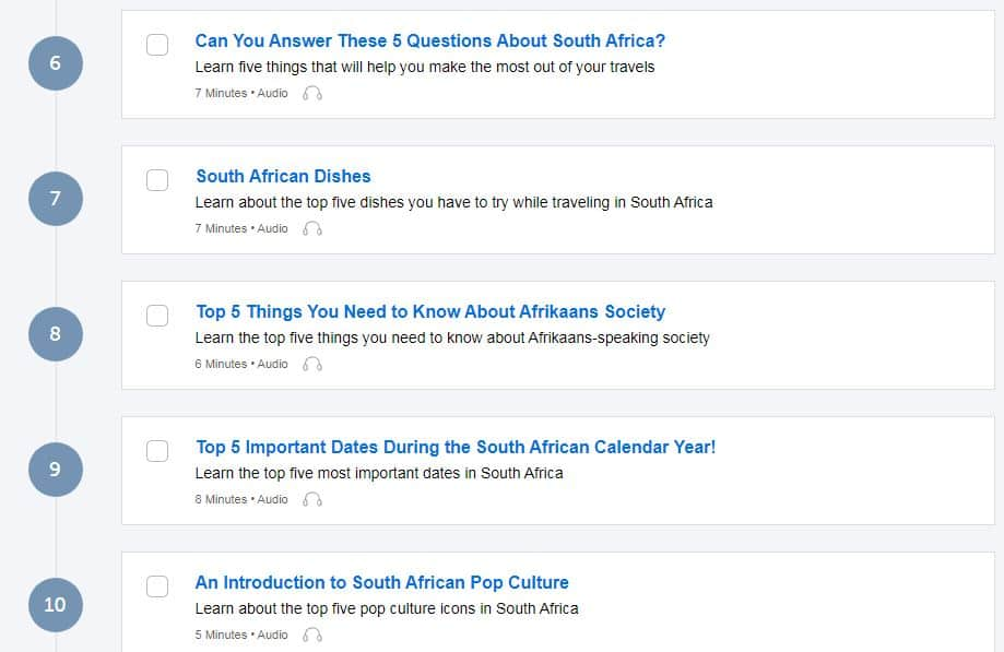 AfrikaansPod101-Review-Lesson-List-Afrikaan-Culture