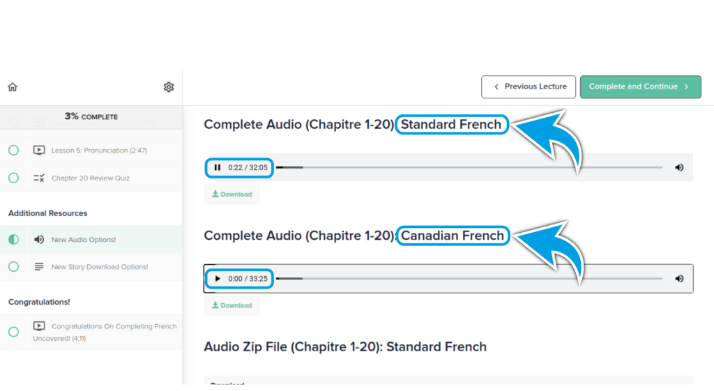 French Uncovered Review - Audio Lesson