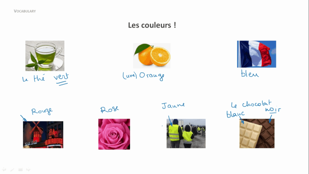 French Uncovered - Colors vocab