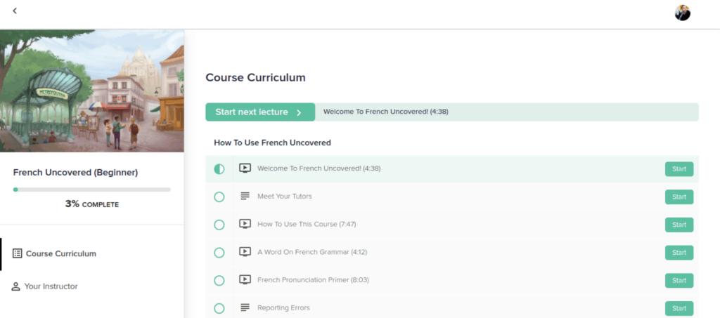 French Uncovered Screenshot - Main Dashboard
