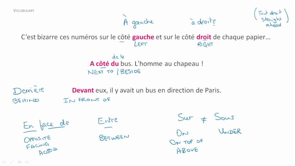 French Uncovered Screenshot - prepositions vocab