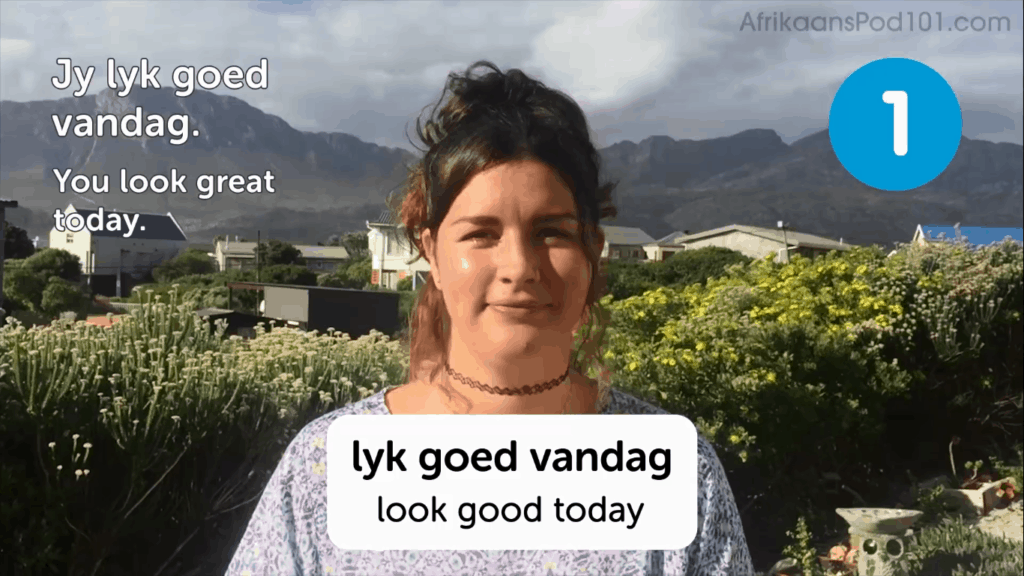AfrikaansPod101-Review-Video-Lesson-You-Look-Good